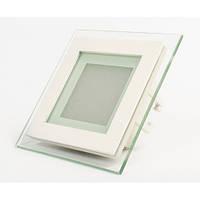 Светодиодная панель встраиваемая со стеклом СП 6W квадрат, фото 1
