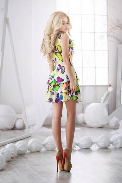 Летние платье Бабочка-рюши
