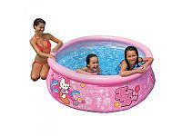 Надувной бассейн круглый Hello Kitty Intex 28104