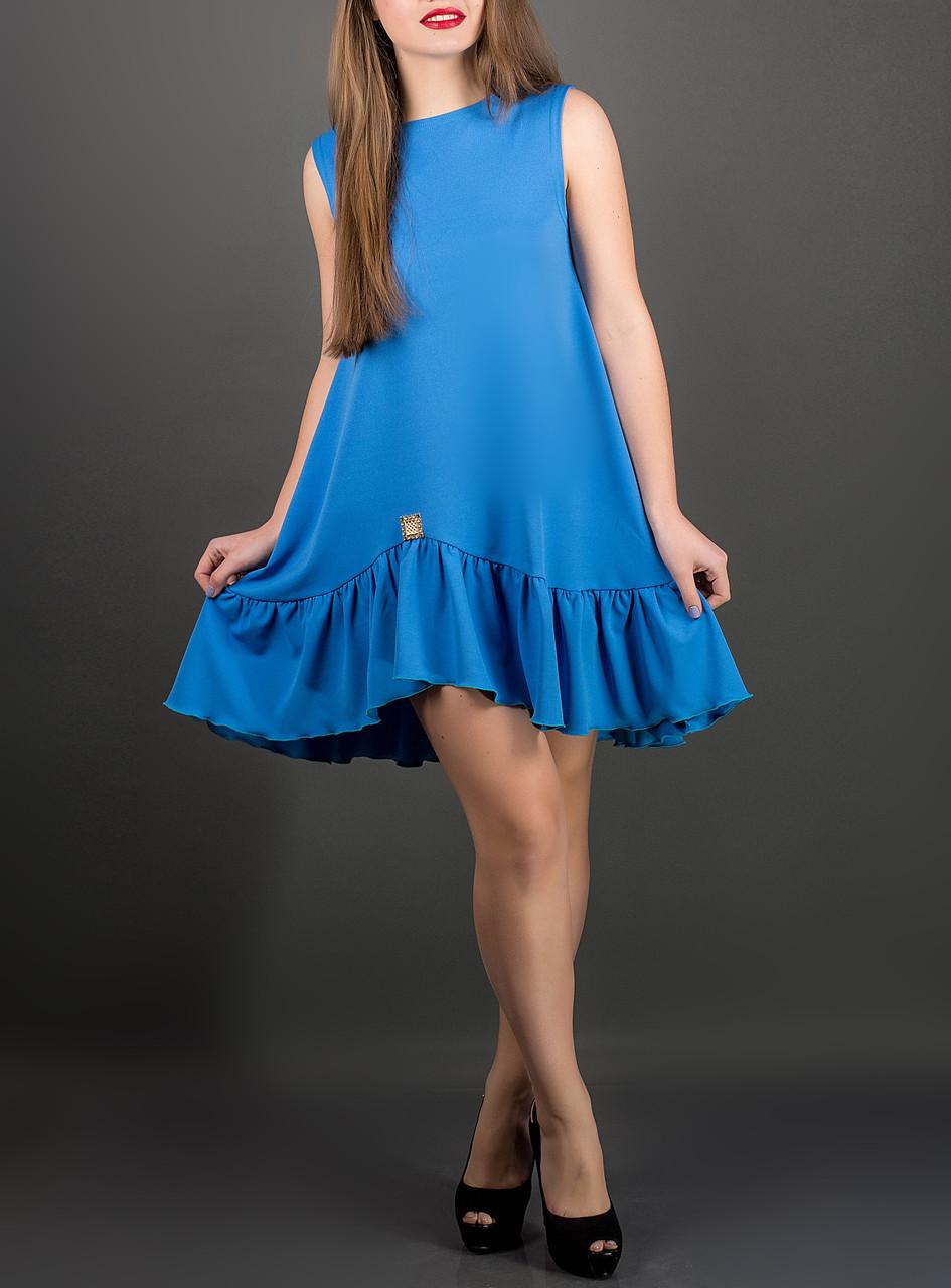 """Модное женское платье """"Роми бирюза"""", до 52 размера"""