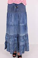 Модная юбка из тонкой джинсовой ткани