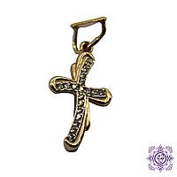 Золотой крестик с цирконием