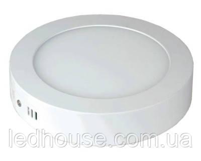 Светодиодная панель круглая-12Вт накладная (Ø174) 6400K, 950 люмен