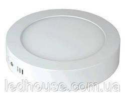 Светодиодная панель круглая-6Вт накладная (Ø120) 6400K, 470 люмен
