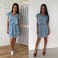 Легкое женское шифоновое платье на лето