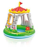 Бассейн детский intex с навесом замок 57122