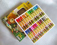 Пастель масляная для тонировки фоамирана, набор 24 цвета