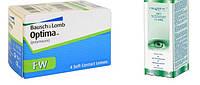 Контактные линзы Optima(4 шт)+ раствор I Care 360ml