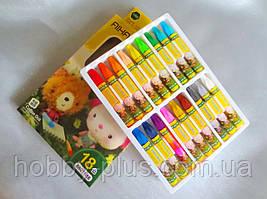 Пастель масляная для тонировки фоамирана, набор 18 цветов