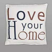 """Декоративная подушка флис """"Люблю твой дом"""" 45*45 см"""