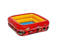 Надувной бассейн квадратный Тачки 57101