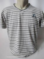 Серая спортивная футболка мужская в полоску