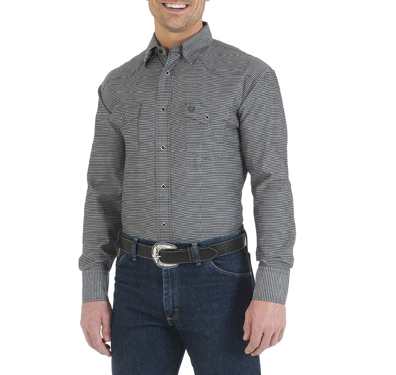 Рубашка Wrangler George Strait, XXL, Black, MGS40BK