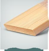 Планкен из Сибирской Лиственницы, сорт AB, 20х146х3000,4000,6000 мм