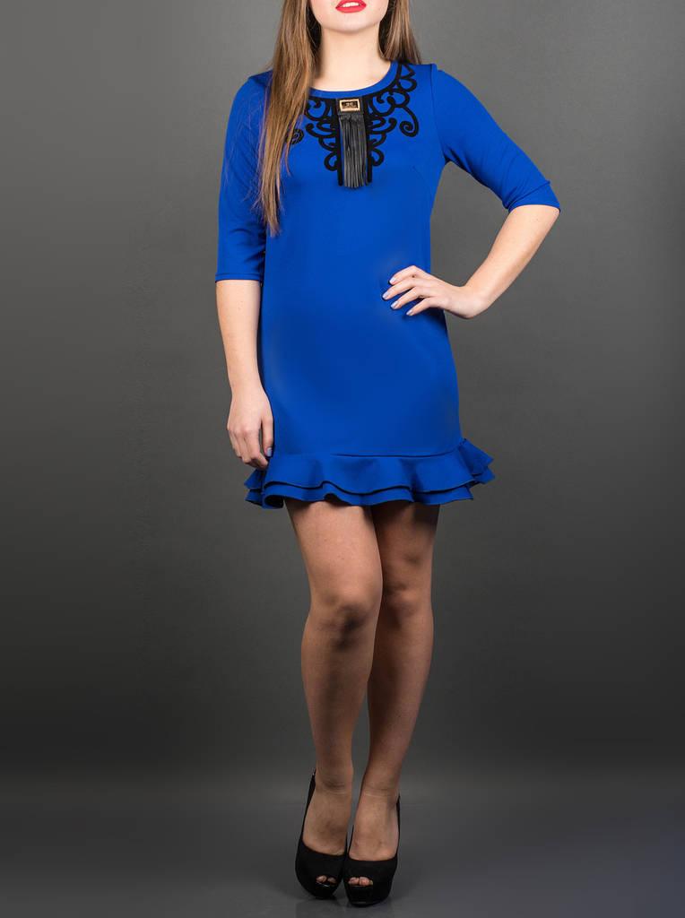 """Яркое красивое платье """"Кураж электрик"""", размеры от 46 по 50"""