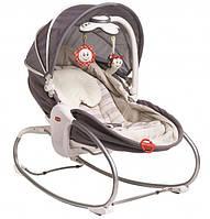 Кресло - кроватка - качалка 3 в 1 «Мамина любовь» с капюшоном (серый)
