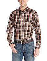 Рубашка Wrangler Wrinkle Resist, L, Black/Orange/Red, MWR182M, фото 1