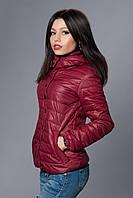 Женская молодежная демисезонная куртка. Код модели К-57-12-15. Цвет вишневый.