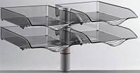 Поворотный лоток для бумаг Novus CopySwinger Duo II, на струбцине, серый