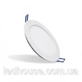 Світлодіодна панель кругла-6Вт  (Ø120/Ø107) 6400K, 470 люмен