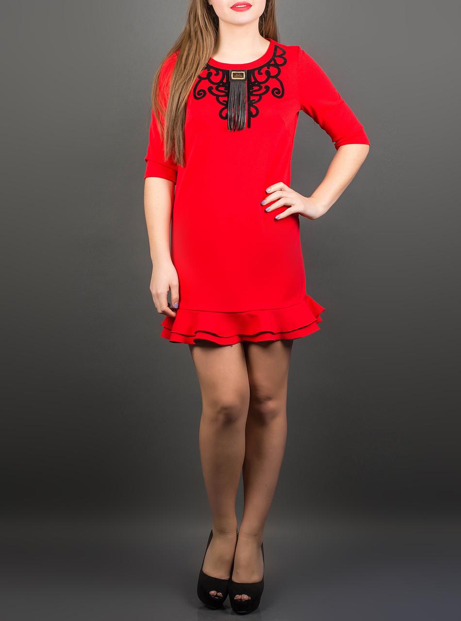 """Яркое платье для девушек """"Кураж"""", размеры от 46 по 50"""