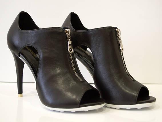 Босоножки женские черные на каблуке Balidoner 005, фото 2
