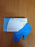 Перчатки нитриловые р.М, 100 шт/уп, цв. голубой