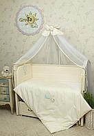 Набор детского постельного белья для новорожденных в кроватку Круиз