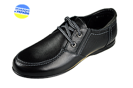 Туфли подростковые из натуральной кожи 37 размер МИДА 31119