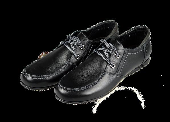 Туфли подростковые из натуральной кожи 37 размер МИДА 31119              , фото 2
