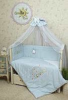Комплект постельного белья для новорожденных Радуга