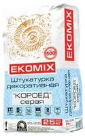 "Штукатурка ""короед"" серая Ekomix"