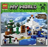 Конструктор Bela 10391 Снежное укрытие (аналог Lego Майнкрафт, Minecraft 21120), 327 дет