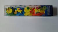 Пальчиковые краски со штампами 5 цветов