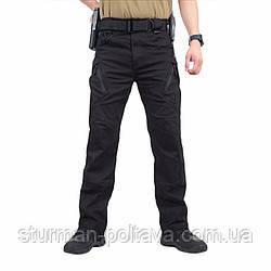 Штани чоловічі тактичні літні Urban Tactical міський стиль колір чорний склад бавовна 98 % спандекс2%
