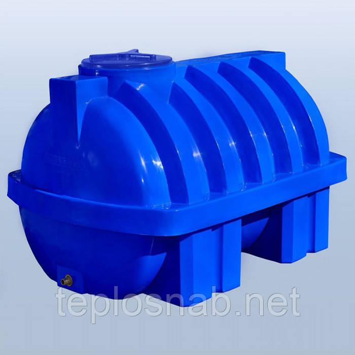 Пластиковый бак (емкость  горизонтальная) RG 2000 Р/ребро двухслойная