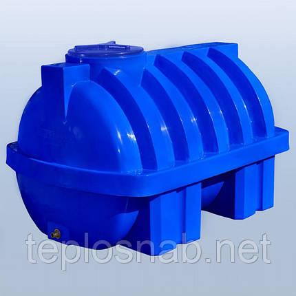 Пластиковый бак (емкость  горизонтальная) RG 2000 Р/ребро двухслойная, фото 2