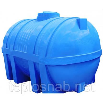 Пластиковый бак (емкость  горизонтальная) EG 3000 двухслойная, фото 2
