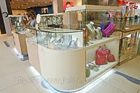 Витрины и прилавки из МДФ и стекла, торговая мебель изготовить, фото 1