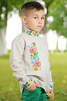 Детская вышиванка для мальчика «Украинский букет»