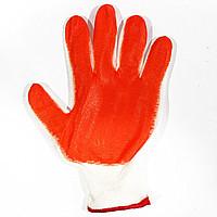 Перчатки рабочие стрейч оранжевый 12пар/уп