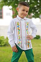 Детская вышиванка для мальчика «Украинский букет-2»