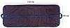 Чехол объемный для хранения одежды одежды с ручками 60*150*15 см (синий), фото 2