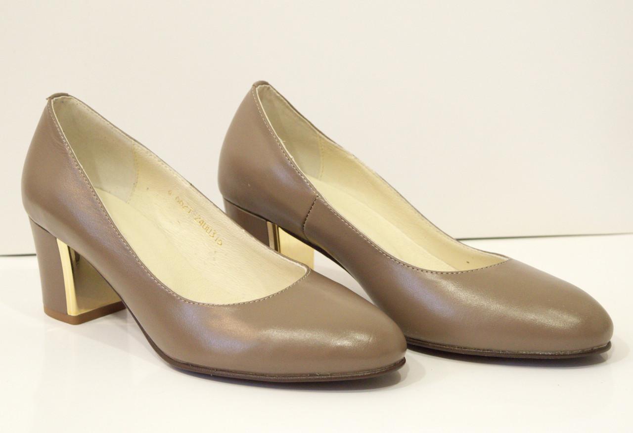 Туфли женские капучино Камея 6621