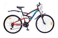 """Велосипед 26"""" Discovery CANYON AM2 14G Vbr St черно-сине-оранжевый 2016"""