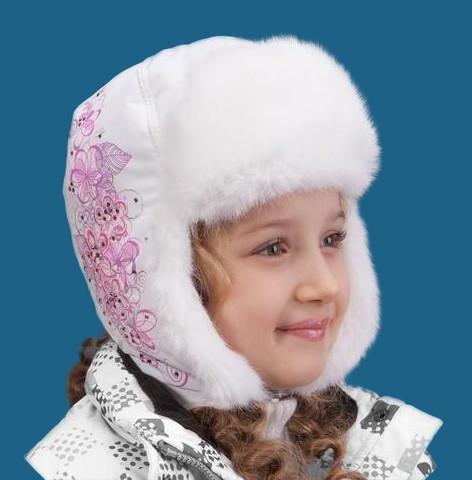 Шапки-ушанки для девочек Сибирь TuTu