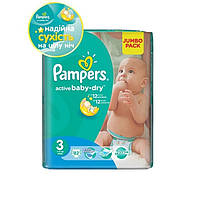 Подгузники Pampers Active Baby-Dry Midi 3 (4-9 кг) 82 шт