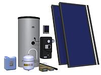 Пакетное эконом-предложение гелиосистем Hewalex с плоскими коллекторами и бойлером 200 литров