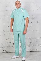 Медицинский костюм для доктора зеленого цвета