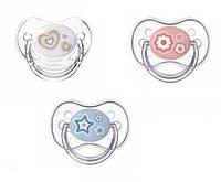 Пустышка силиконовая анатомическая 18+ месяцев (бежевая) Newborn baby Canpol babies
